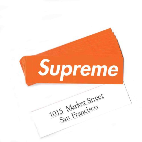 San Francisco Box Logo Sticker Set of 10