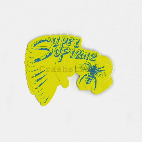 Super Supreme Sticker (set 0f 10) in Yellow